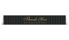 Pin Stripe Custom Toblerone Thank You Chocolates