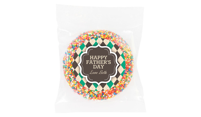 Argyle Fathers Day Personalised Giant Chocolate Freckle