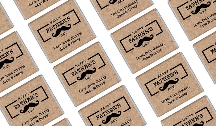 Kraft Moustache Personalised Father's Day Mini Chocolates