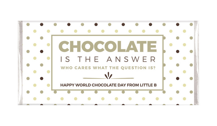 Chocolate Is The Answer Personalised Chocolates