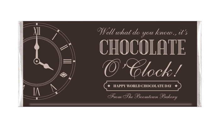 Old Clock Personalised Chocolates