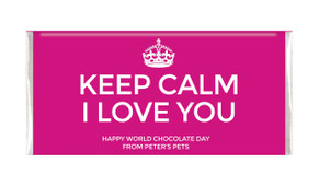 Keep Calm Personalised Chocolates