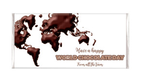 World Chocolate Day Map Personalised Chocolates