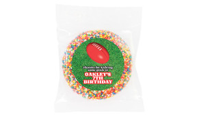 Aussie Rules Football Personalised Chocolate Freckle