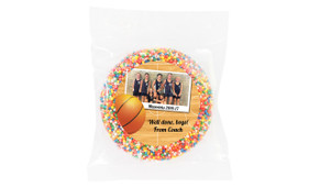 Basketball Photo Personalised Chocolate Freckle