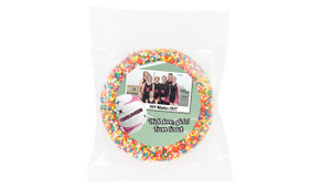 Netball Photo Personalised Chocolate Freckle