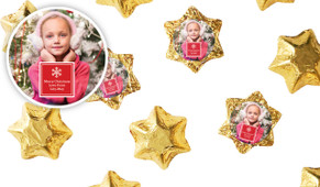 A Photo With Square Personalised Chocolate Stars