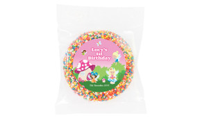 Fairy Garden Personalised Chocolate Freckle
