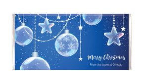 Crystal Baubles Personalised Christmas Chocolate Bar