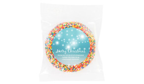Festive Bunting Personalised Giant Chocolate Freckles