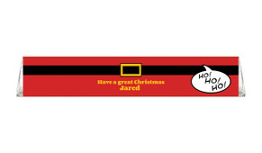 Santa Belt Personalised Christmas Toblerone Chocolates