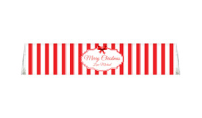 Stripes In Red Personalised Christmas Toblerone Chocolates