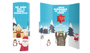 At The North Pole Personalised Chocolate Christmas Card