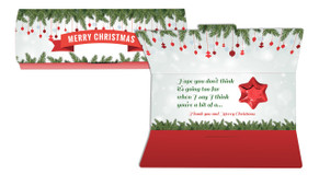 Branches And Banner Personalised Chocolate Christmas Card