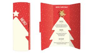 Christmas Menu Personalised Chocolate Christmas Card