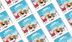 At The North Pole Custom Christmas Mini Chocolates