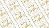 Gold Confetti Stars Christmas Personalised Mini Chocolates
