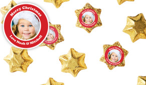 Add A Photo Personalised Christmas Chocolate Stars