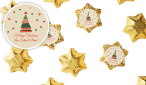 Abstract Tree Personalised Christmas Chocolate Stars
