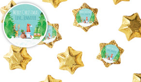 A Watercolour Christmas Personalised Chocolate Stars