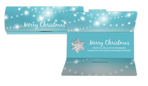 Festive Bunting Personalised Chocolate Christmas Card