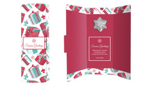Gifts Of Christmas Personalised Chocolate Christmas Card