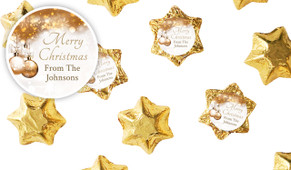 Bronzed Baubles Christmas Personalised Chocolate Stars