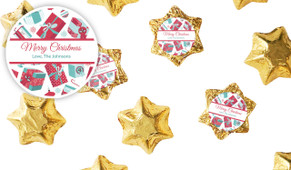 Gifts Of Christmas Personalised Chocolate Stars