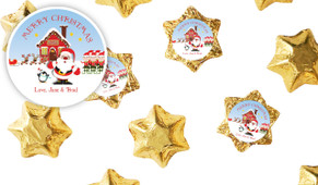 Santa's Workshop Customised Christmas Chocolate Stars