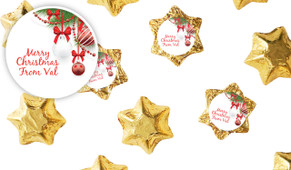 White Baubles Personalised Christmas Chocolate Stars