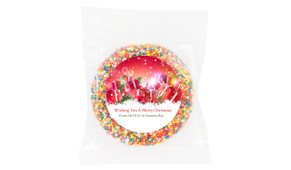 Gifts In The Snow Christmas Personalised Chocolate Freckle