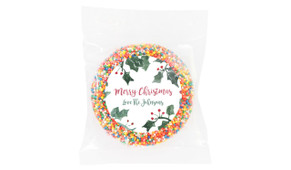 Holly Watercolour Christmas Personalised Chocolate Freckle