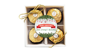 Branches And Banner Christmas Ferrero Rocher Gift Box