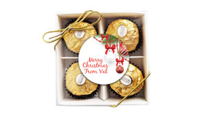 White Baubles Christmas Ferrero Rocher Gift Box