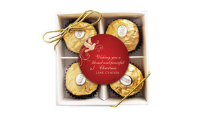 Dove On Gold Christmas Ferrero Rocher Gift Box