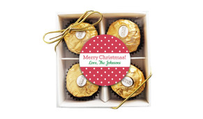 Red Polkadots Christmas Ferrero Rocher Gift Box