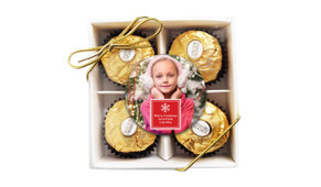 A Photo With Square Christmas Ferrero Rocher Gift Box