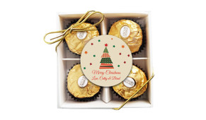 Abstract Tree Christmas Ferrero Rocher Gift Box