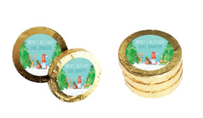 A Watercolour Christmas Gold Coins