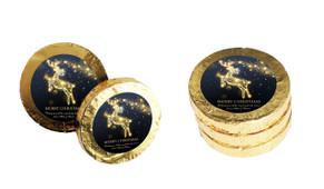 Glowing Reindeer Christmas Gold Coins
