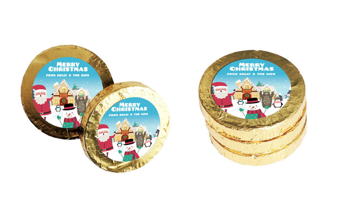 At The North Pole Christmas Gold Coins