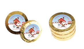 Santa's Workshop Christmas Gold Coins