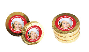 Add A Photo Christmas Gold Coins