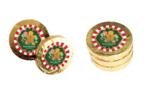 Gingerbread Man Christmas Gold Coins