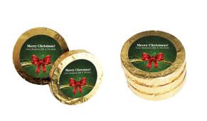 Christmas Bow Christmas Gold Coins