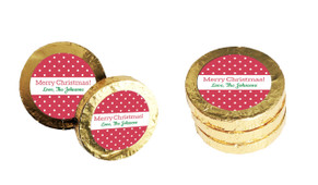 Red Polkadots Christmas Gold Coins