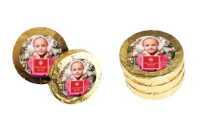 A Photo With Square Christmas Gold Coins