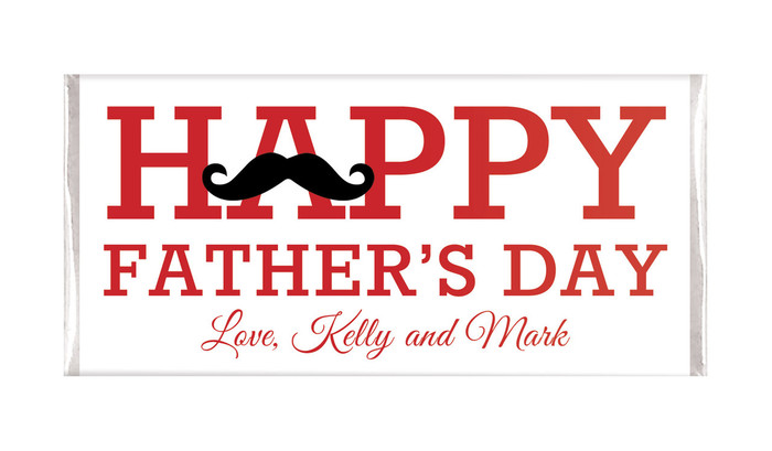 Moustache Fathers Day Custom Chocolates