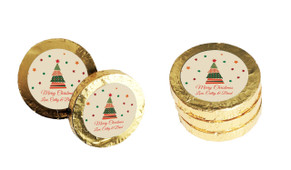 Abstract Tree Christmas Gold Coins