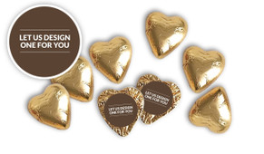 Let Us Design For You Foil Chocolate Hearts